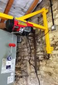 Clarke Wall Mounted Strong Arm Electric Hoist with Pendent Control