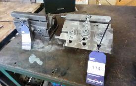2x Various Adjustable Machine Tables