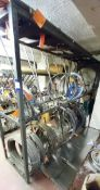 Contents to Stock Rack to Include Quantity of Various Spring Wire Stock
