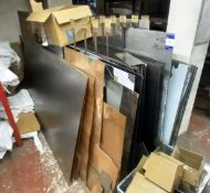 Contents to Stock Rack to Include Large Quantity of Polished and Brushed Stainless Steel, Copper, Br