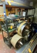 Contents of Stock Rack to Include Quantity of Various Polished Hardened and Tempered Spring Steel