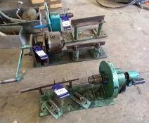 3x Various Manual Miniture Woodworking Lathe's