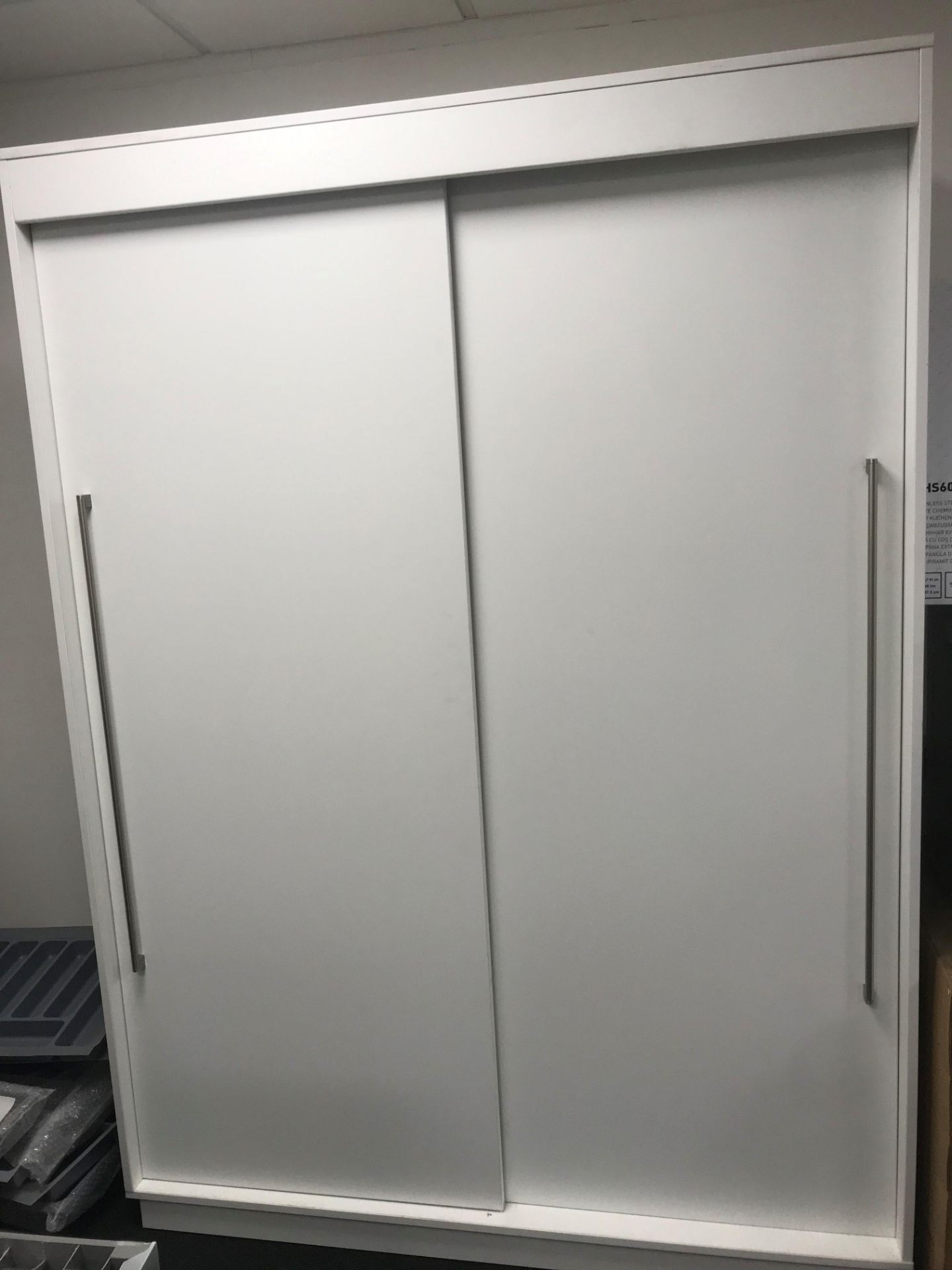 Sliding wardrobe solid back, H2080 x w1500 x d600 (viewing and collection from Unit B, Scotch Park