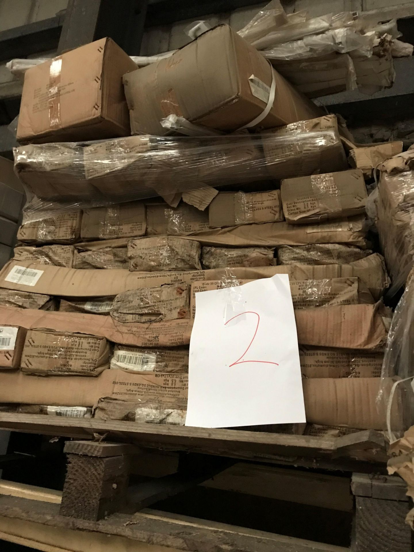 Long bar handles, 920x 14 mm (pallet 2) (viewing and collection from Unit B, Scotch Park Trading
