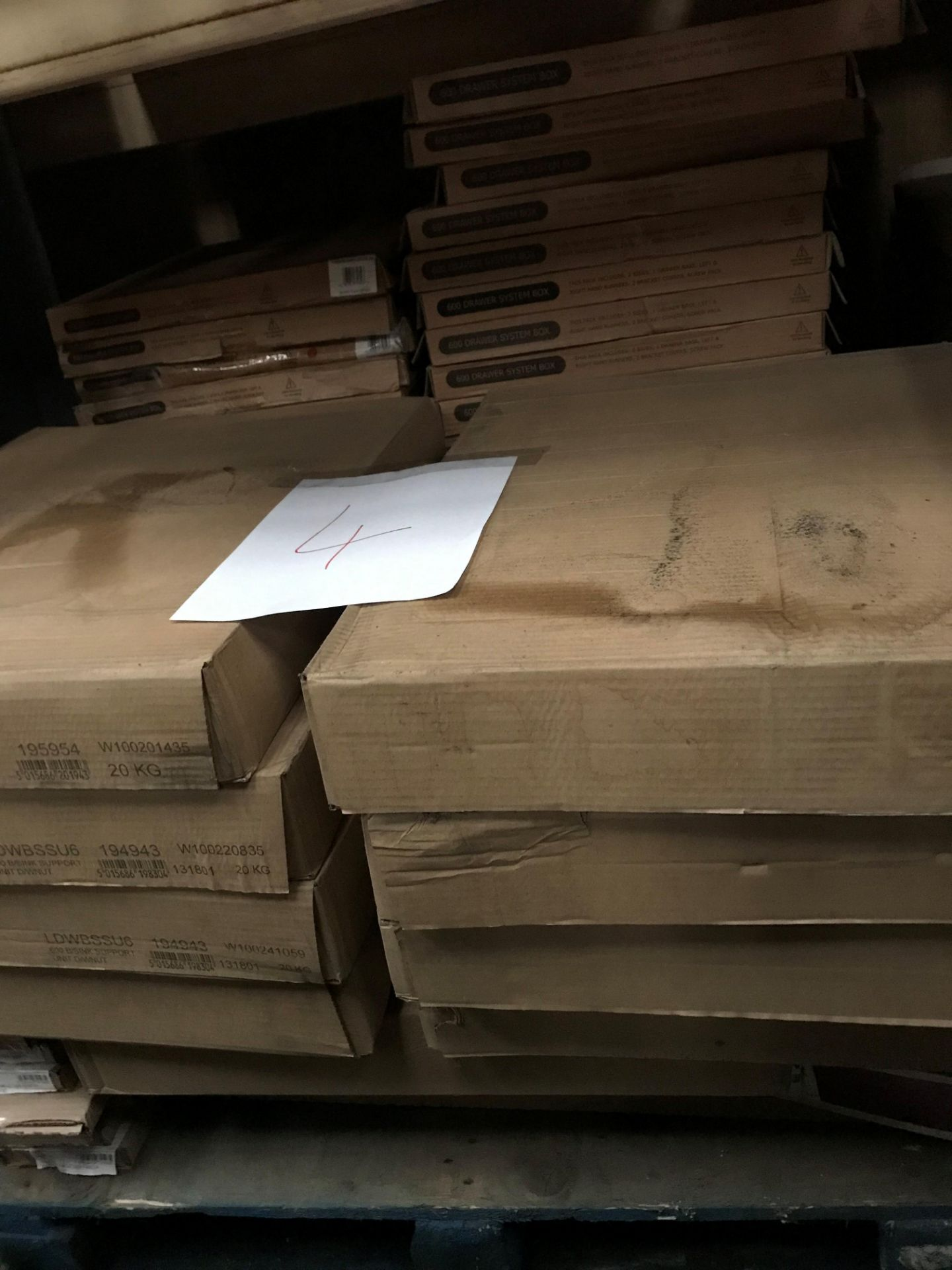 Kitchen units and drawer boxes (pallet 4) (viewing and collection from Unit B, Scotch Park Trading
