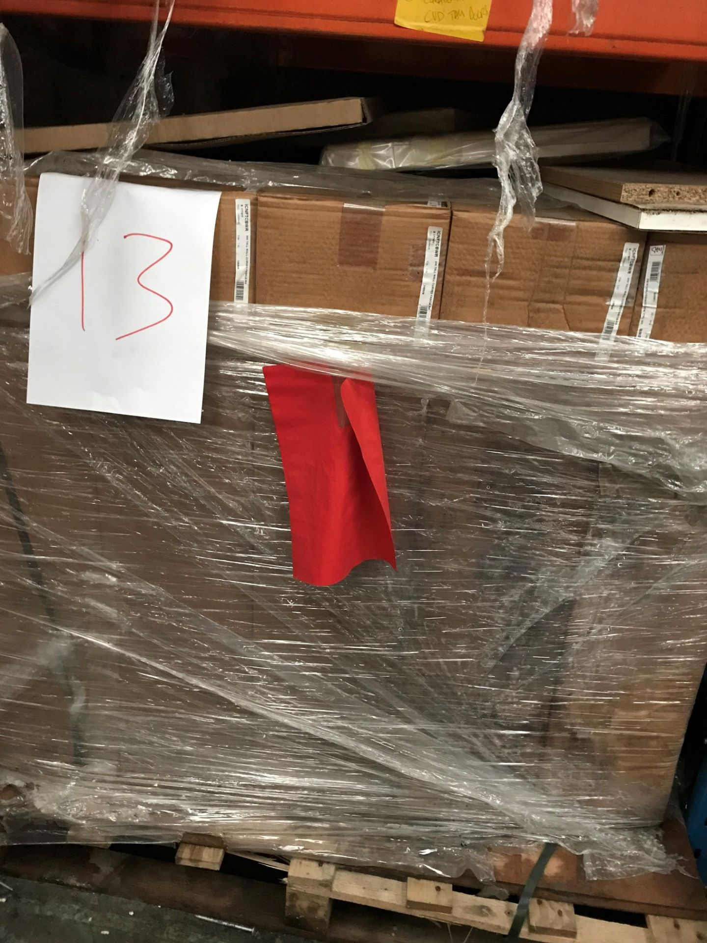 Curved kitchen doors (pallet 13) (viewing and collection from Unit B, Scotch Park Trading Estate,