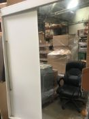 Sliding mirrored wardrobe (viewing and collection from Unit B, Scotch Park Trading Estate, Forge