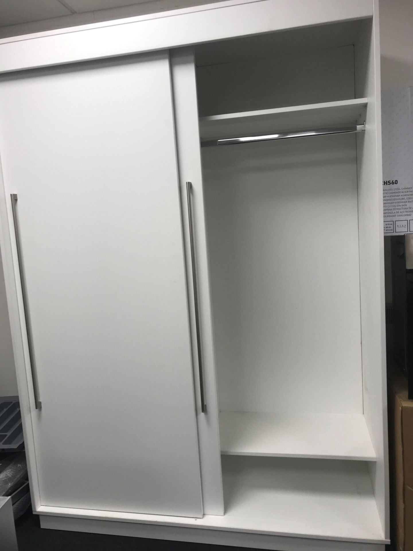 Sliding wardrobe solid back, H2080 x w1500 x d600 (viewing and collection from Unit B, Scotch Park - Image 2 of 2