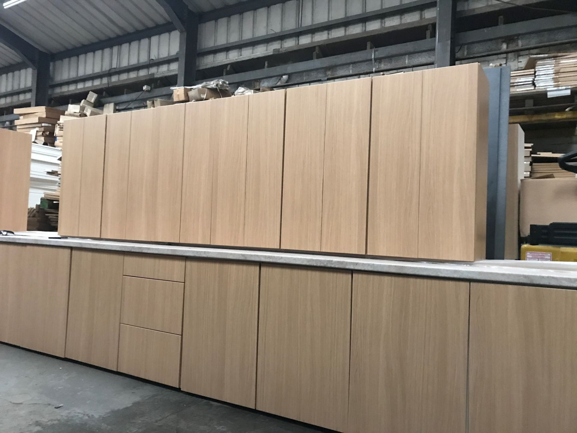Kitchen units, 6x 500 x900 wall units, 7x 500 base , 1x drawer pack (viewing and collection from
