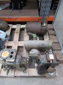 Stationary engine (minus fuel tank), Villiers stationary engine (incomplete), vintage generator- par