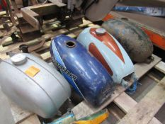 4x fuel tanks for Yamaha, Kawasaki, BSA Bontam and Francis Barnet motorbikes, as well as a Yamaha oi