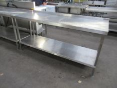 Lockhart stainless steel prep table with under shelf 1800 x 650mm