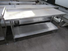 Lockhart stainless steel preperation table with undershelf 1800 x 650mm