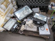 Pallet to contain Qty of Flood Lights, Switch Boxes, 240v Sockets, etc