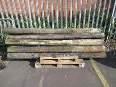 15 Wood Pylons length approx. 2500mm