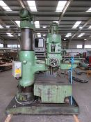 Archdale Multi Speed Radial arm drill machine no. RD12338 400-440V 50Hz with box table.
