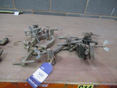 4x welding clamps/ pipe clamps