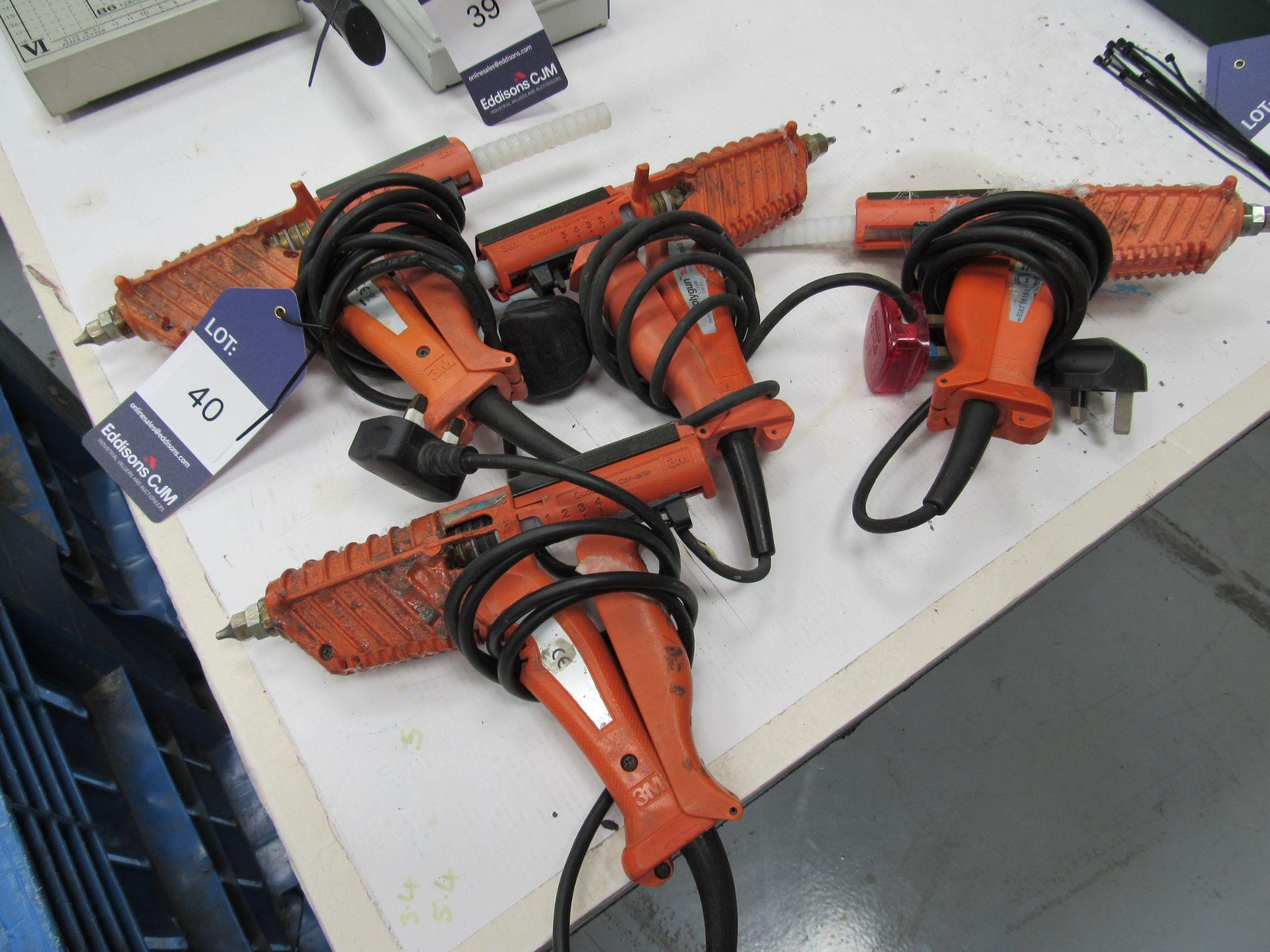 4 Various 3m Glue Guns