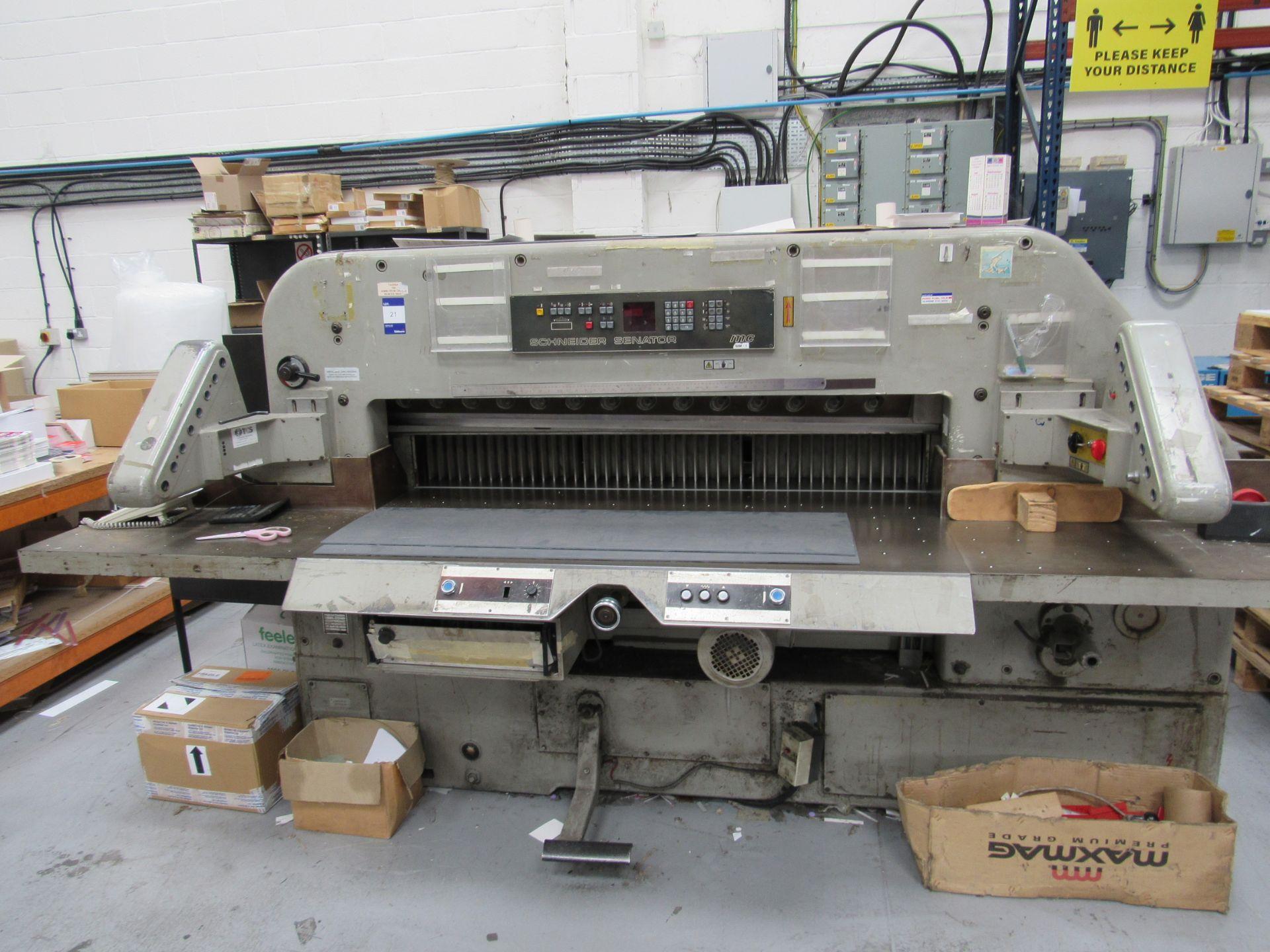 Schneider Senator MC155 guillotine 1980, Serial Number 60516 - Image 4 of 6