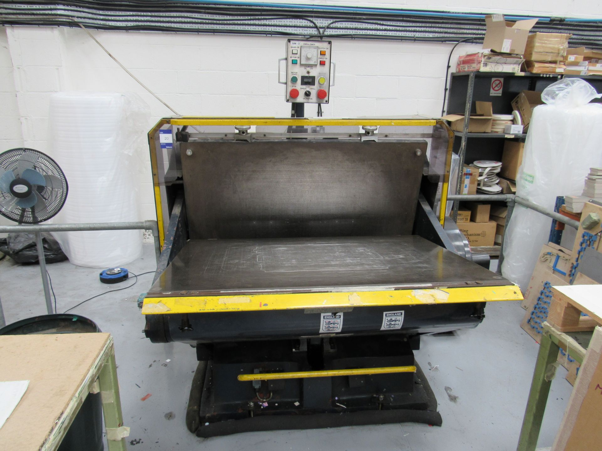 Viking Press VK1330 Cut and Crease Platen 1330 x 960mm Serial Number 97172 - Image 4 of 9