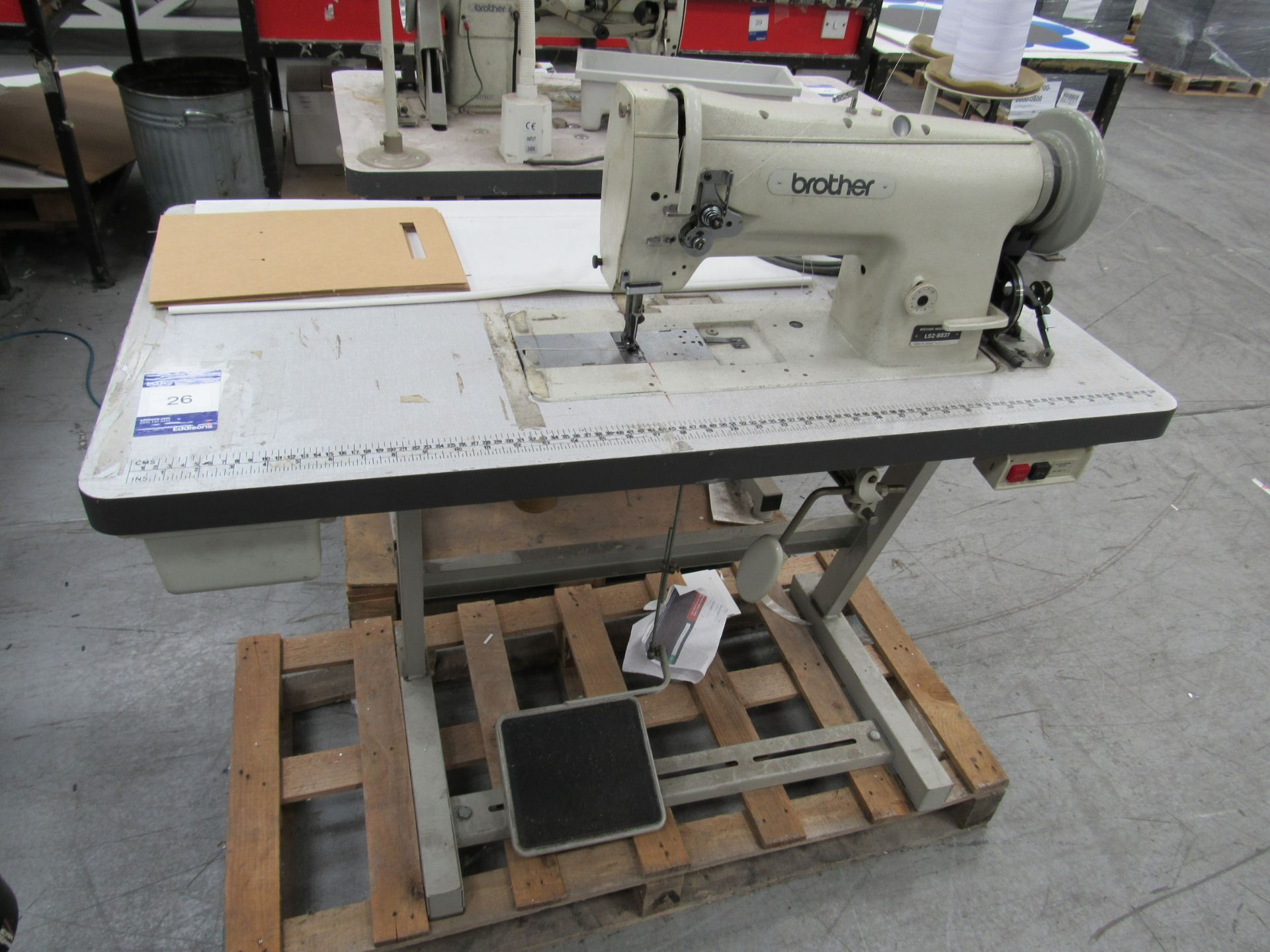 Brother LS2-B837 Industrial Sewing Machine Serial Number M3538580 - Image 2 of 3
