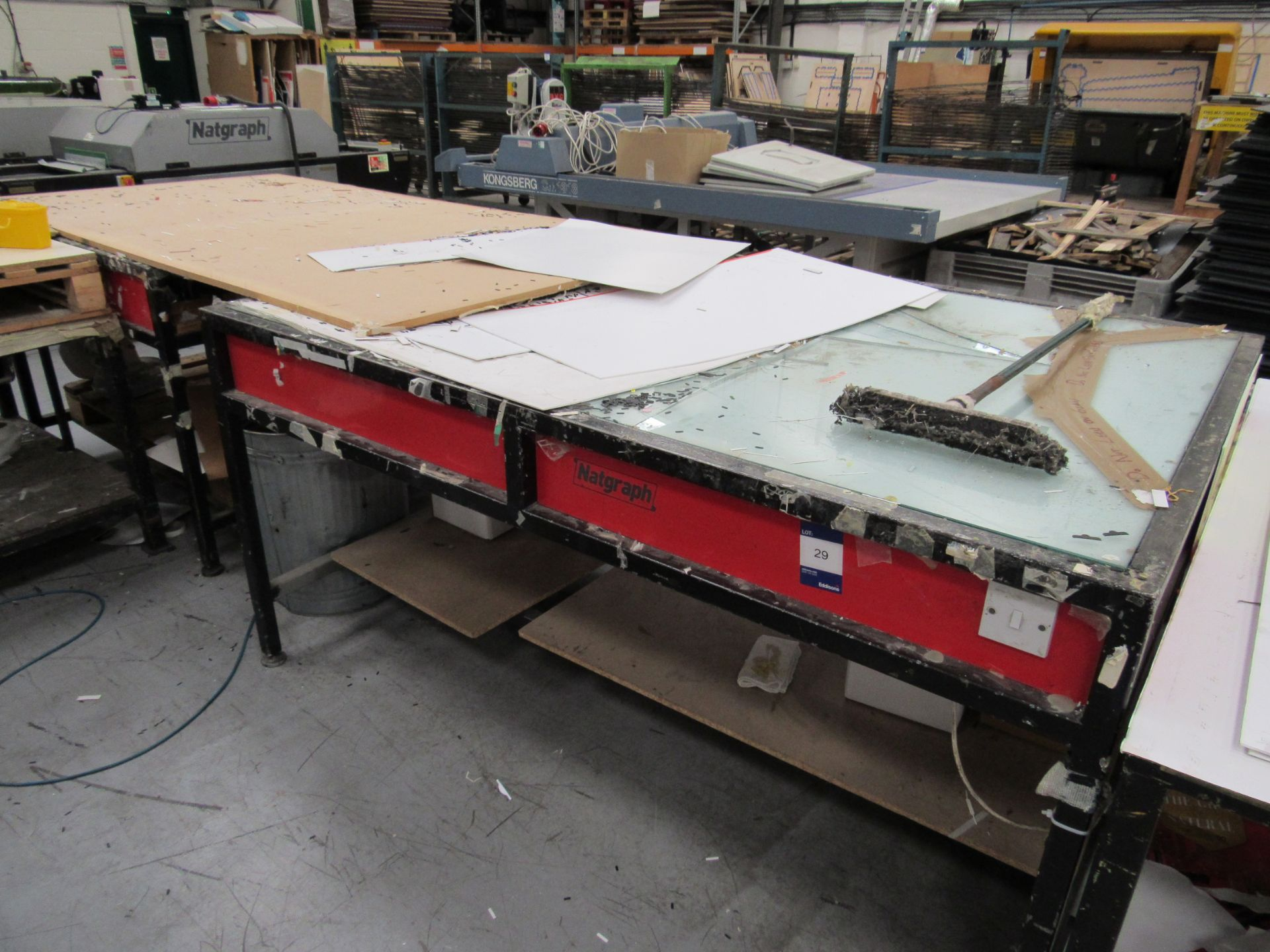 Natgraph Light Table 1300x1910mm and Natgraph Table – Spares or Repairs