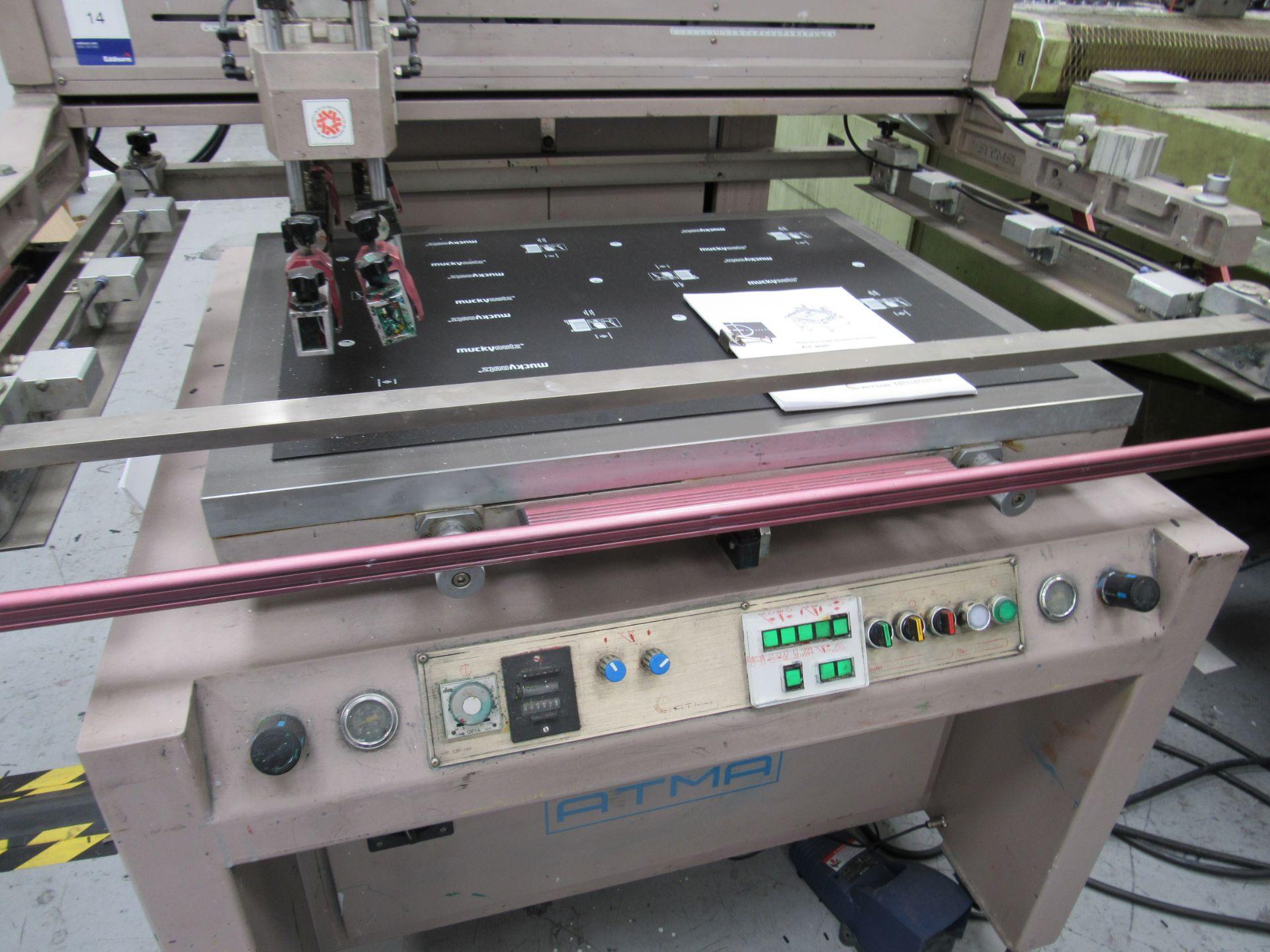 ATMA AT-80P Screen Printer 700x900mm, Serial Number 950301502 - Image 3 of 7