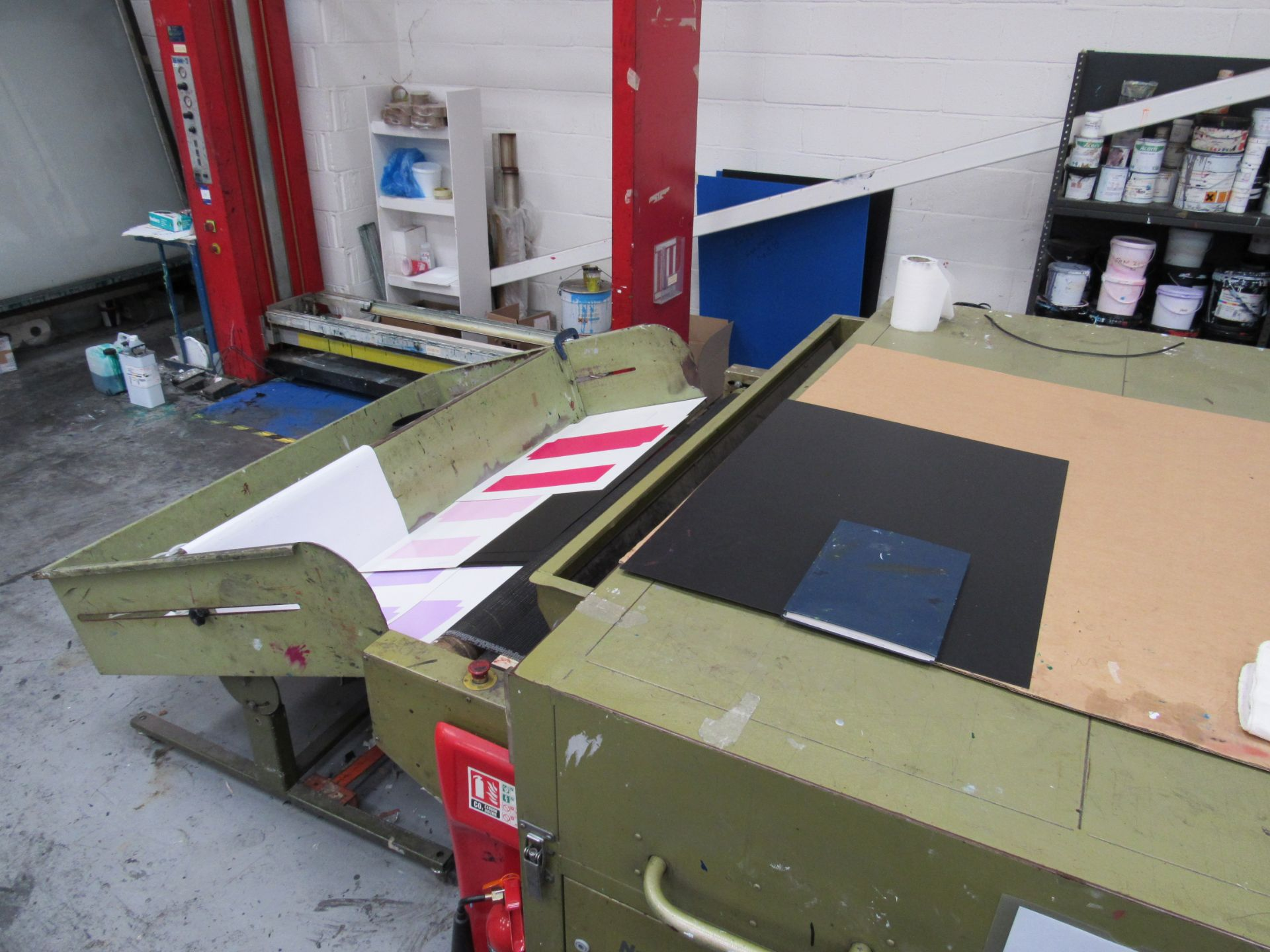 Sias Print Serifast 117.180 Screen Printer Serial Number 88745 with Natgraph 155-2000E UV Dryer Line - Image 9 of 10