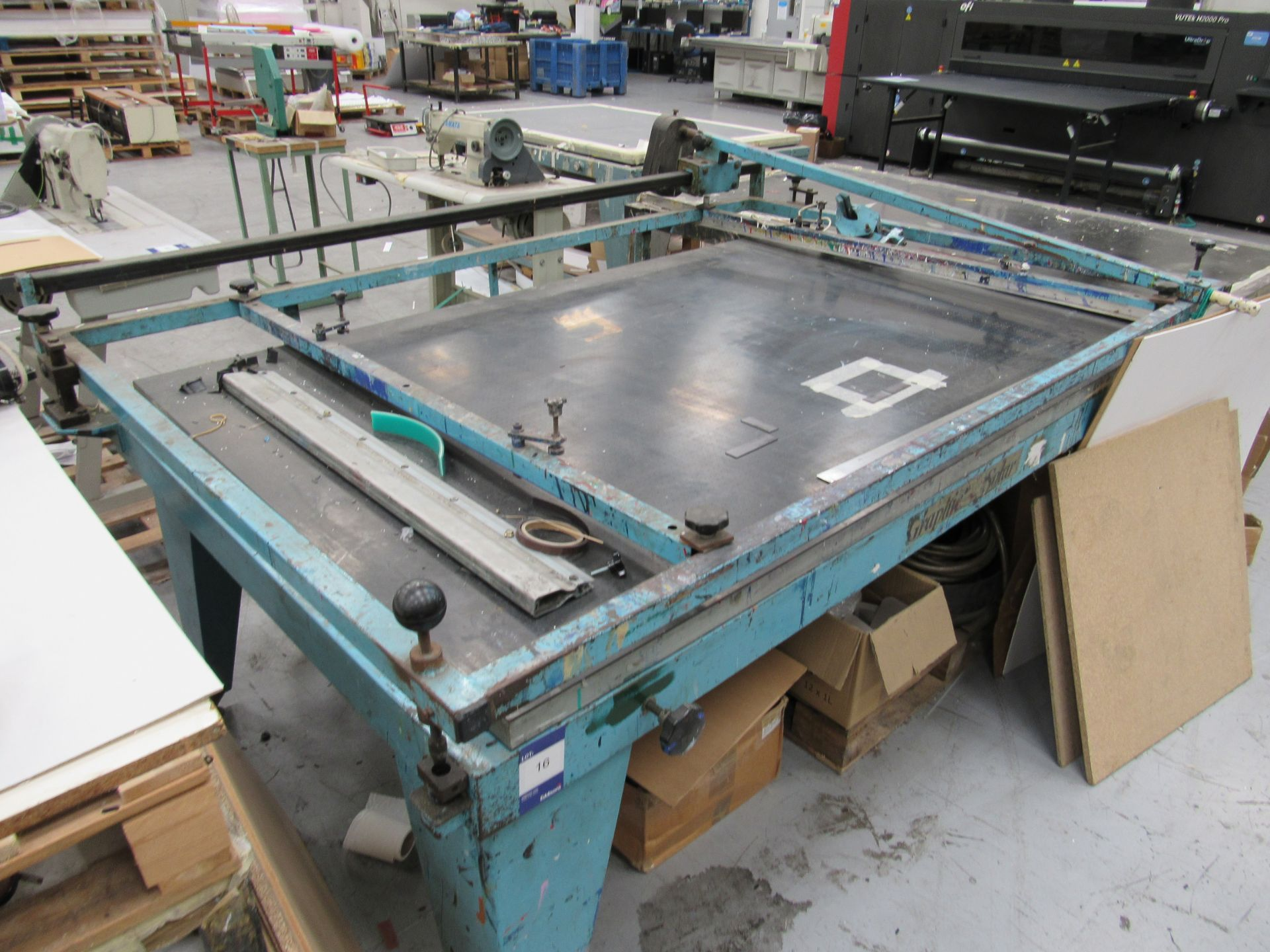 Graphic Solar Screen Printing Table 2100 x 1250mm