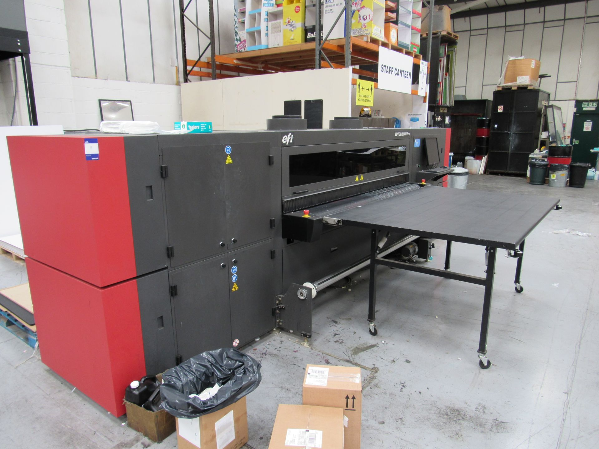 EFI VUTEk H2000 Pro - UltraDrop Technology UV 2m Hybrid Printer, Serial Number 262013, Dec 2014, - Image 12 of 16