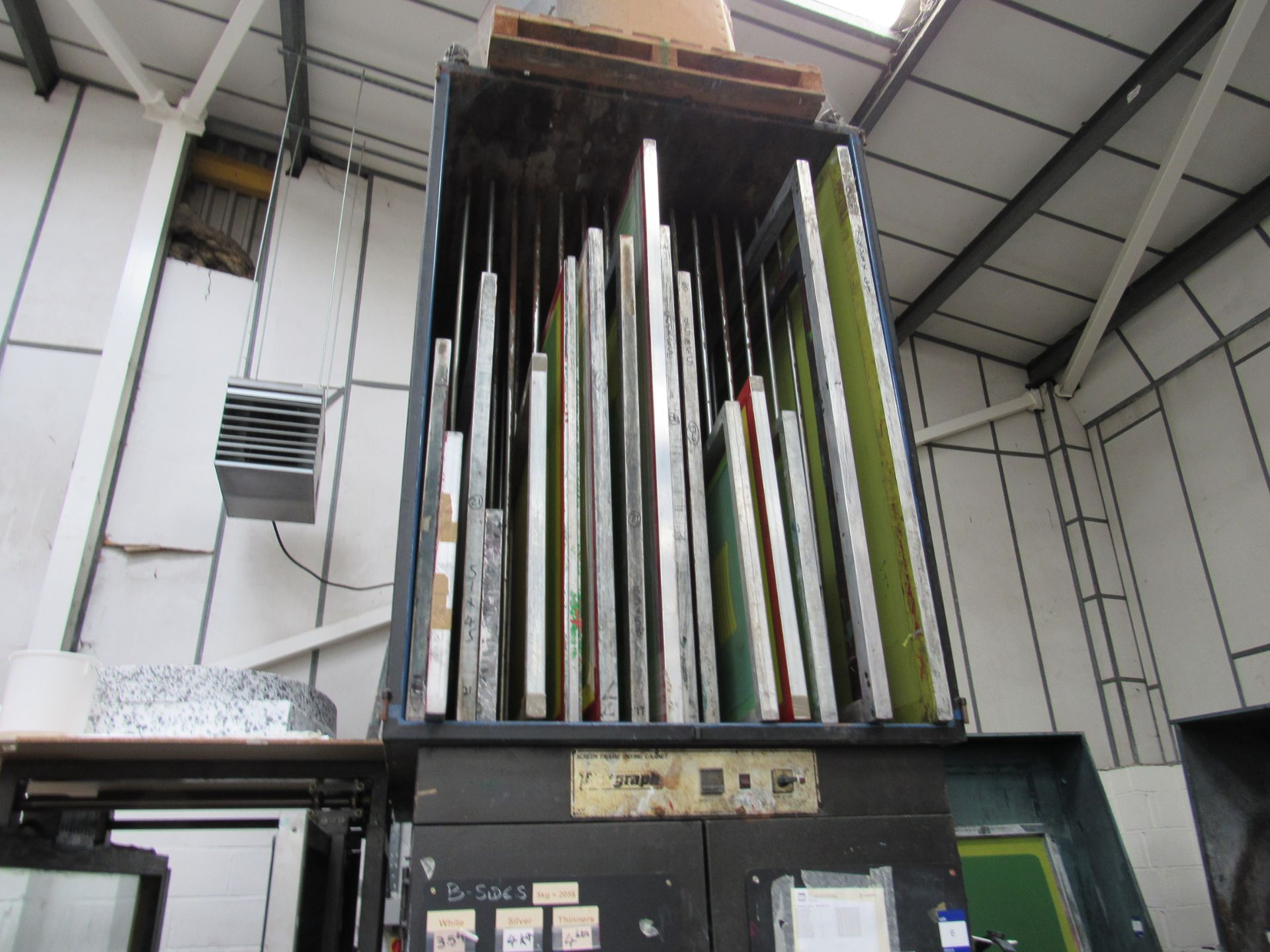 Natgraph Screen Frame Drying Cabinet and Quantity Frames - Image 2 of 2