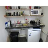 Assortment of kitchen sundries to first floor office, to include Hotpoint future undercounter