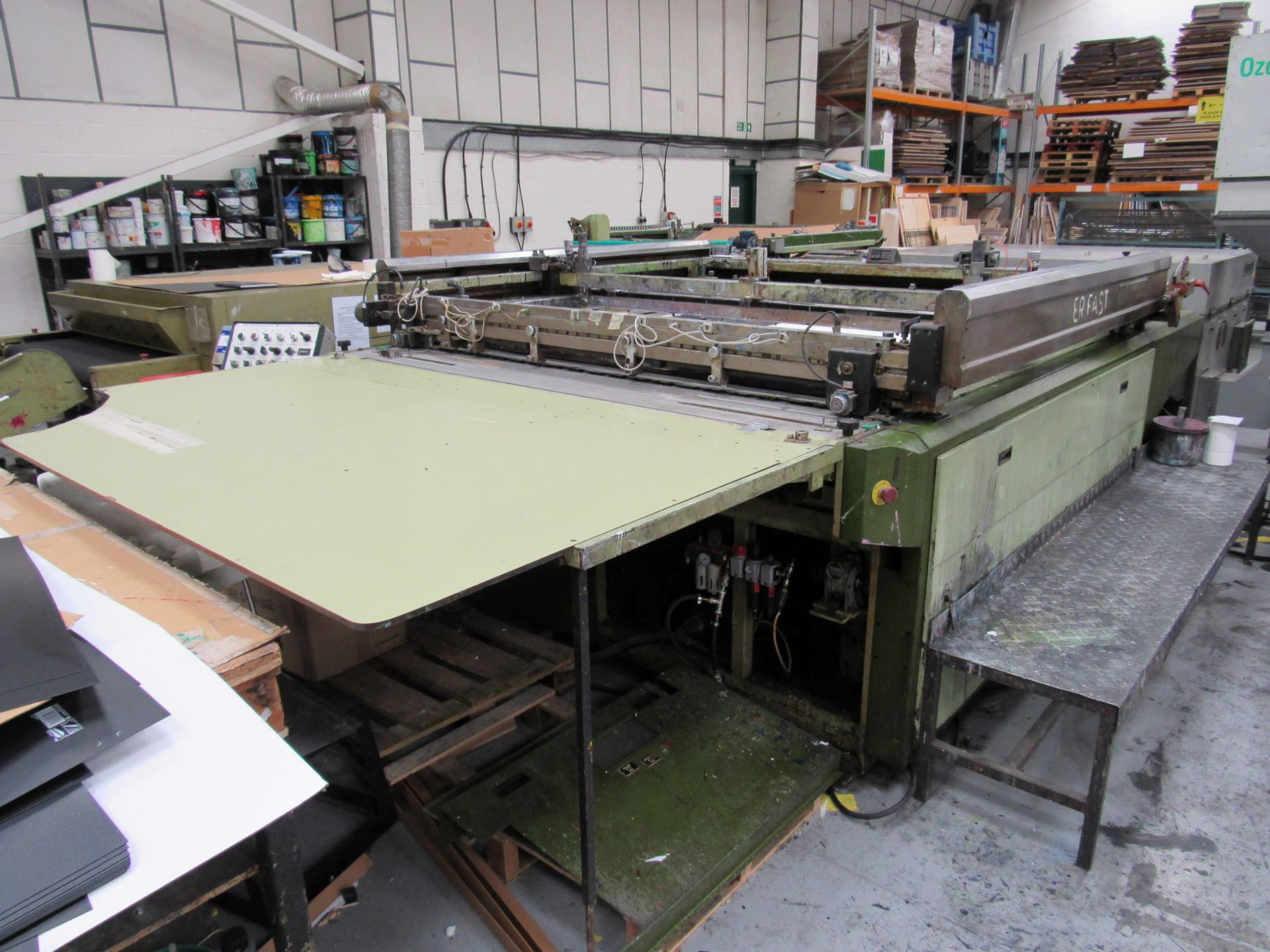 Serfast Screen Printer with Natgraph 170-02.01 UV Dryer, Serial Number 337-02-04, 2002 - Image 5 of 13