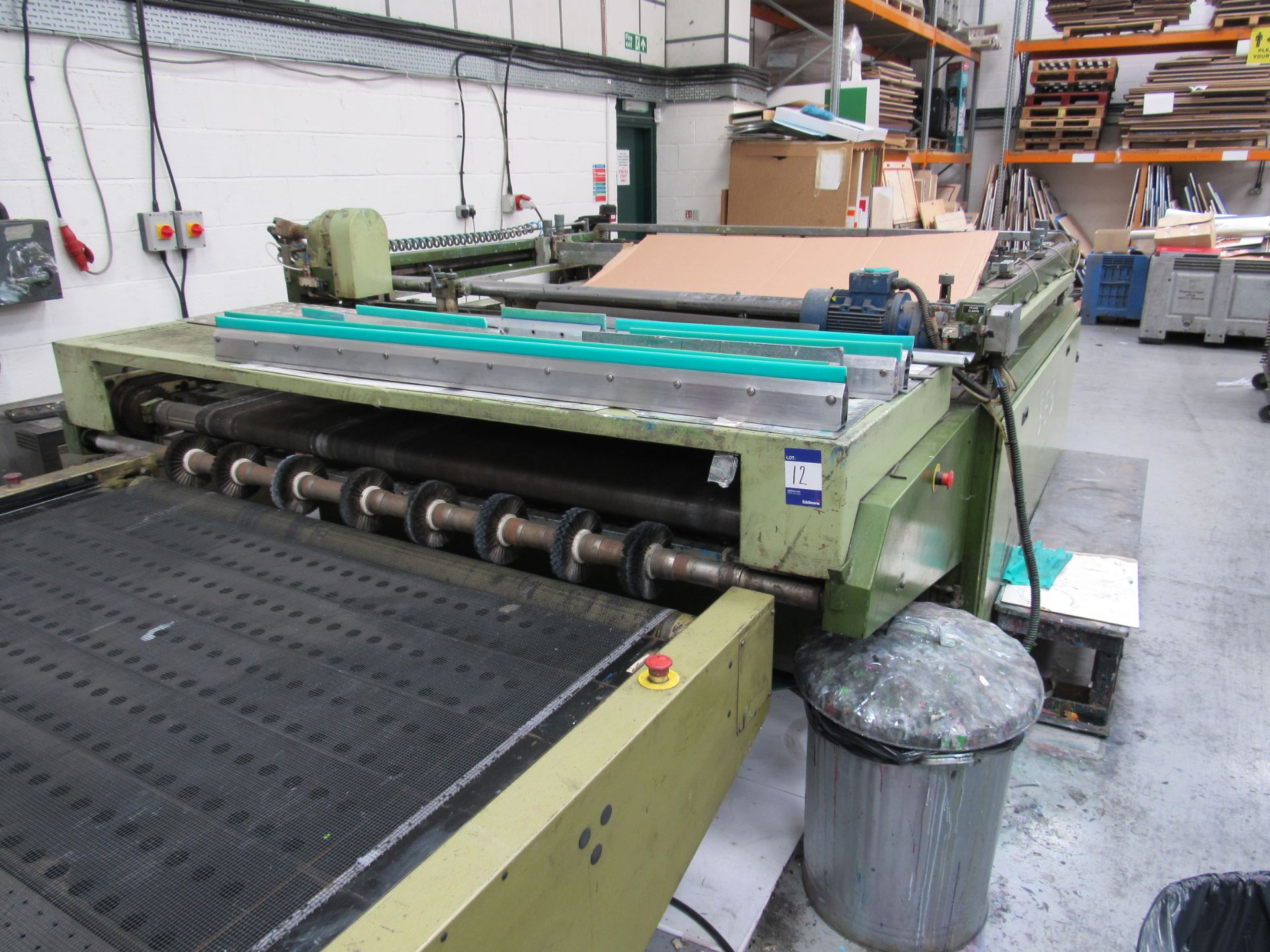 Sias Print Serifast 117.180 Screen Printer Serial Number 88745 with Natgraph 155-2000E UV Dryer Line - Image 4 of 10