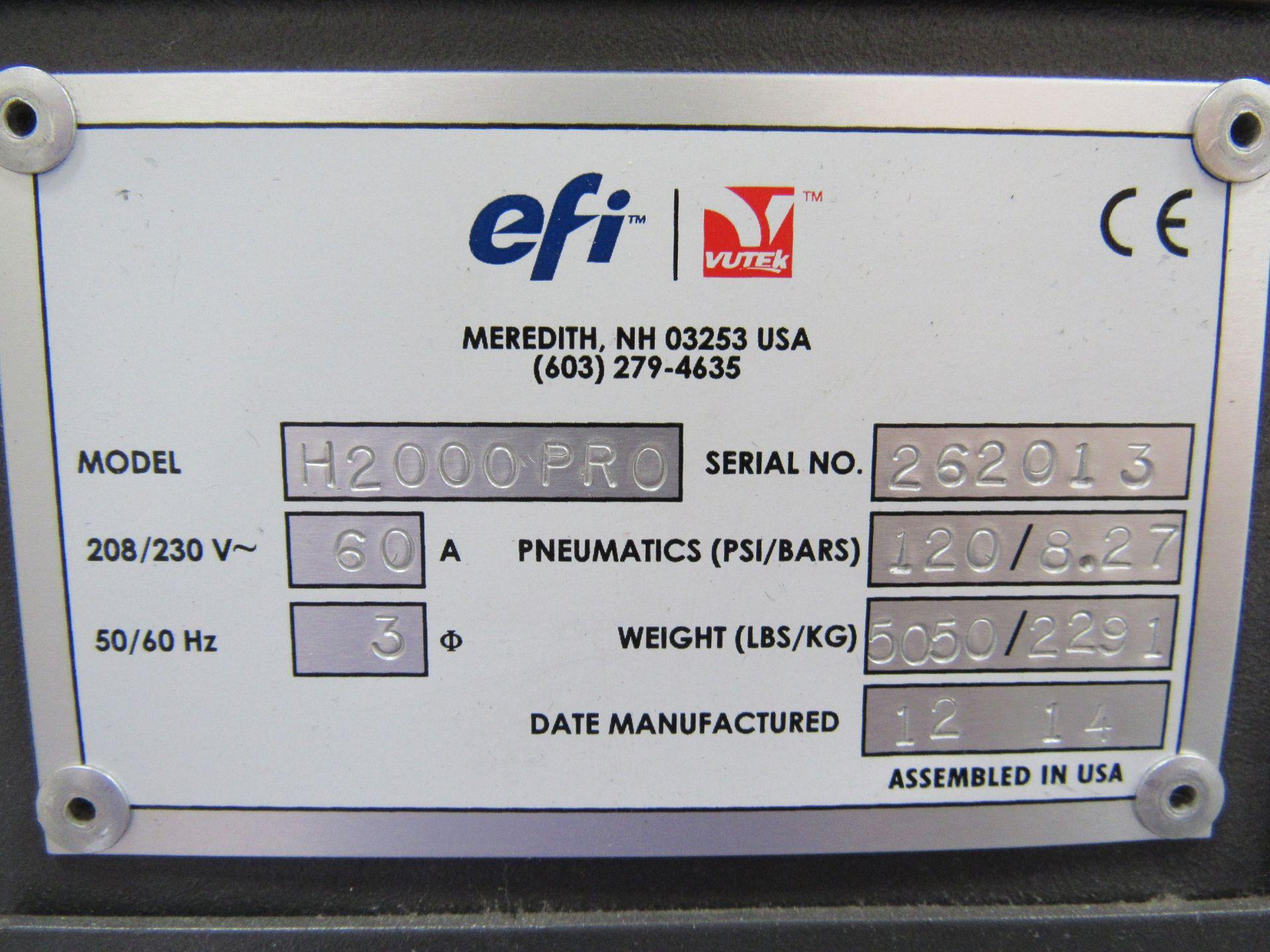 EFI VUTEk H2000 Pro - UltraDrop Technology UV 2m Hybrid Printer, Serial Number 262013, Dec 2014, - Image 4 of 16