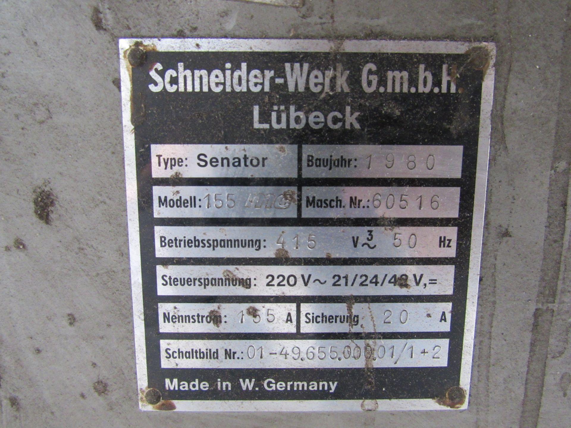 Schneider Senator MC155 guillotine 1980, Serial Number 60516 - Image 5 of 6