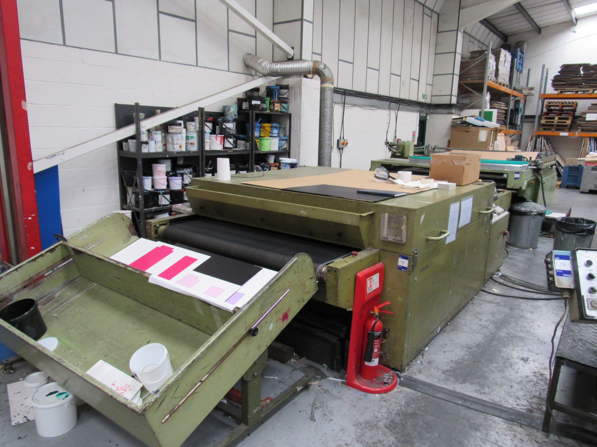 Sias Print Serifast 117.180 Screen Printer Serial Number 88745 with Natgraph 155-2000E UV Dryer Line - Image 5 of 10