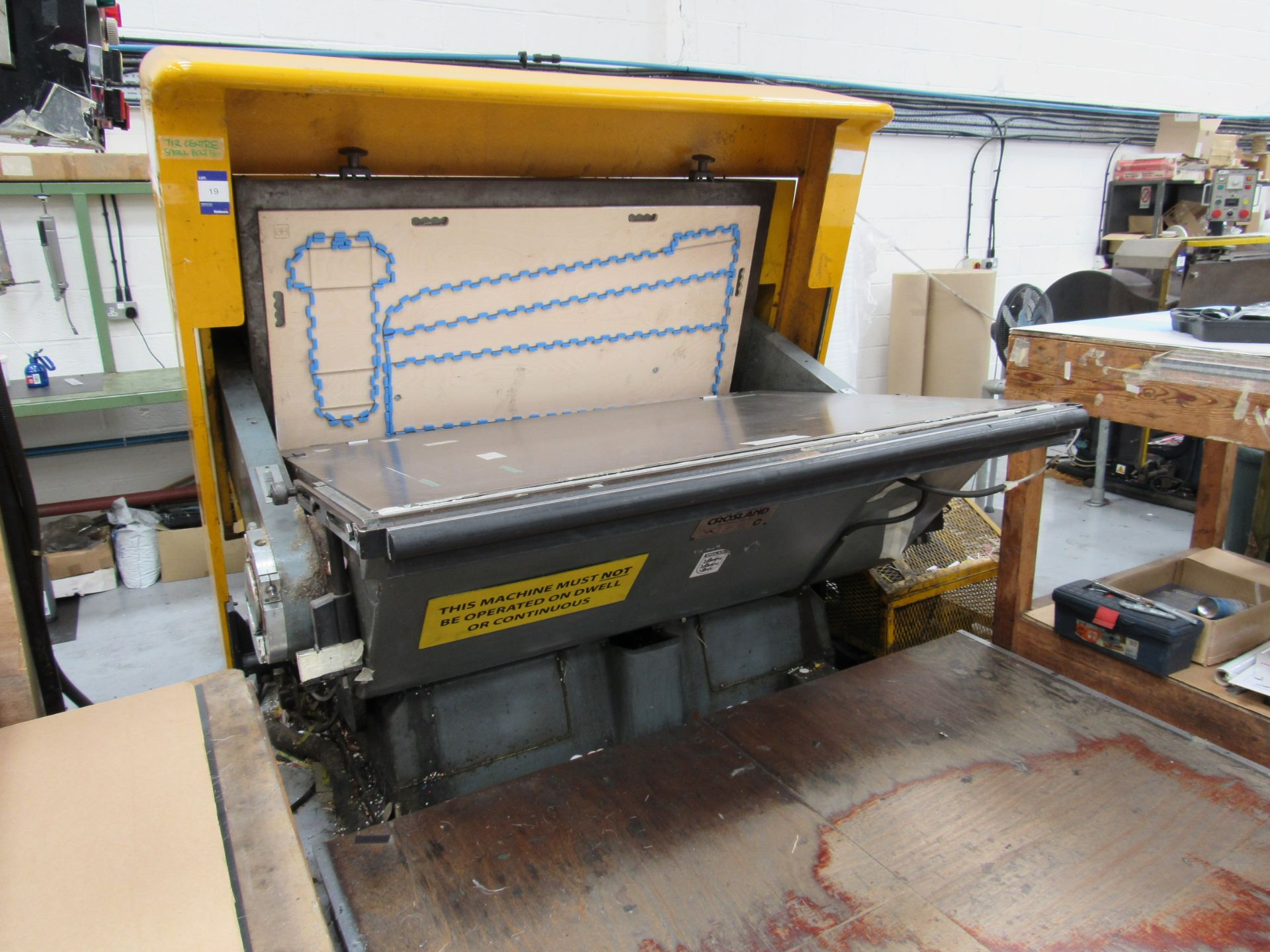Avocet Crosland TVF 32 Cut and Crease Platen, 1690 x 1220mm, Serial Number 467/NH, Sept 1994