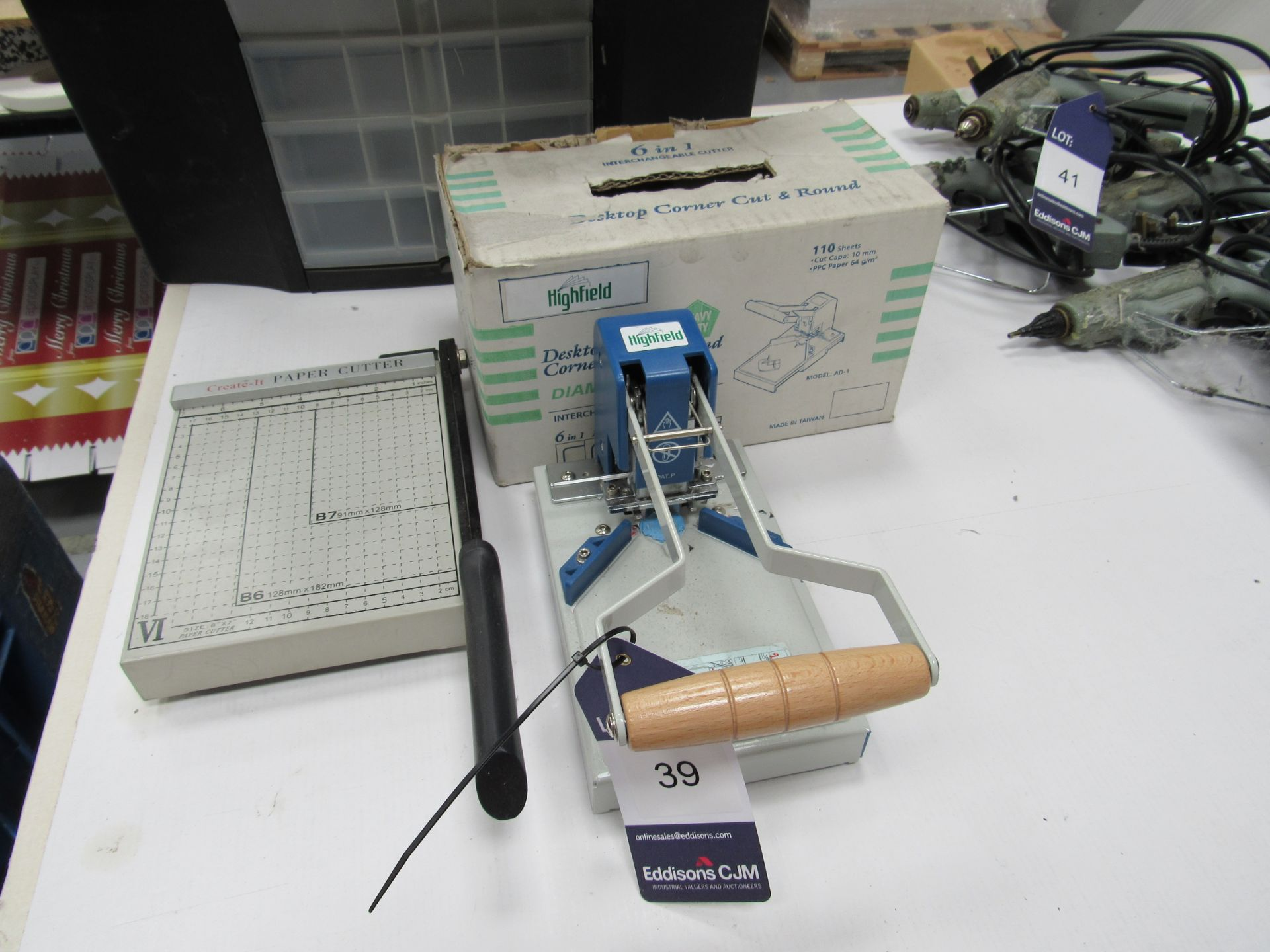 Create IT Paper Cutter and Highfield Desktop Corner Cutter - Image 2 of 2