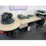 Beech effect 2 section single person workstation (Approximately 2300 x 900), to first floor