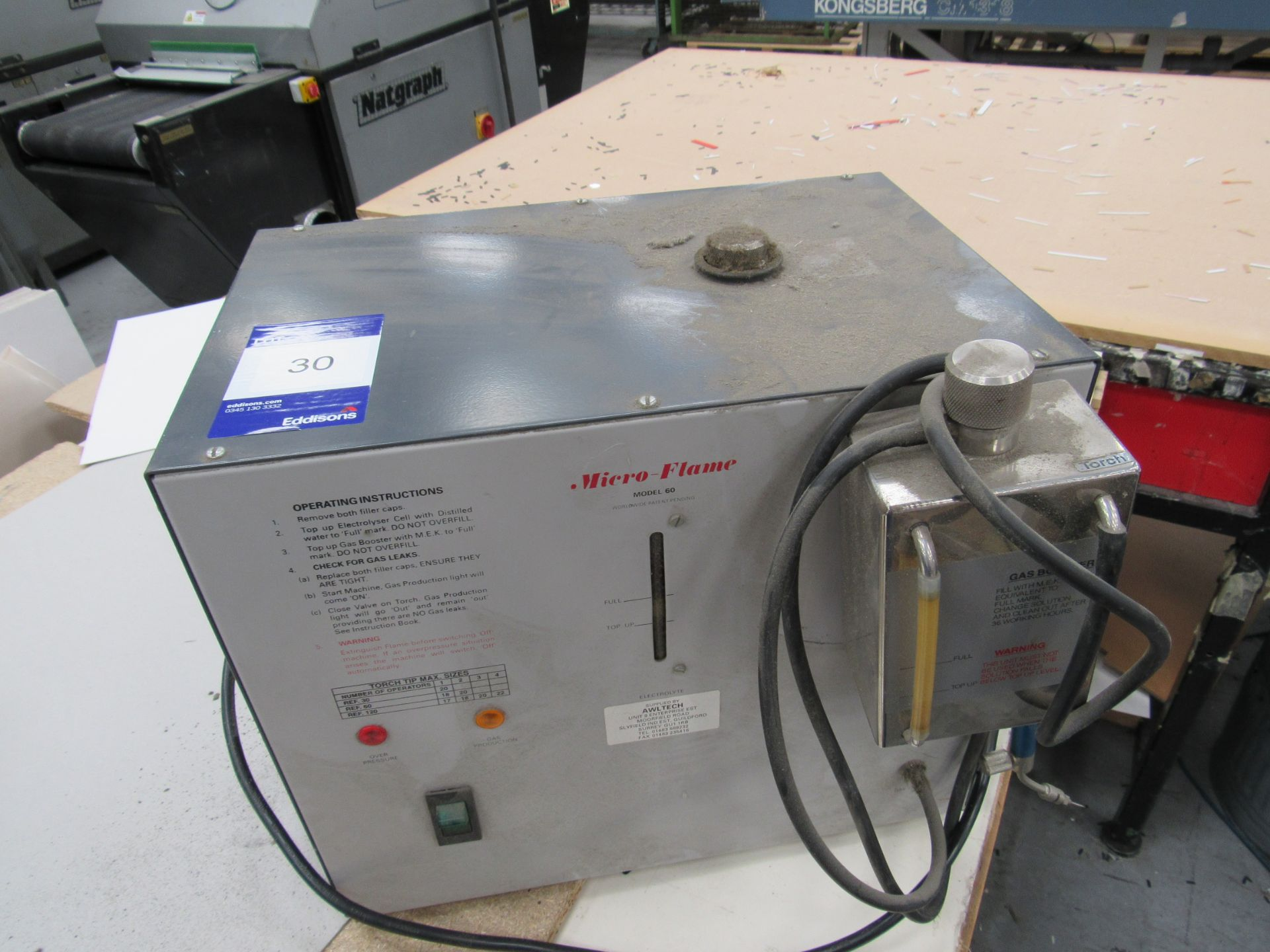 Microflame 60 Flame Polisher Serial Number 02126382 - Image 2 of 3