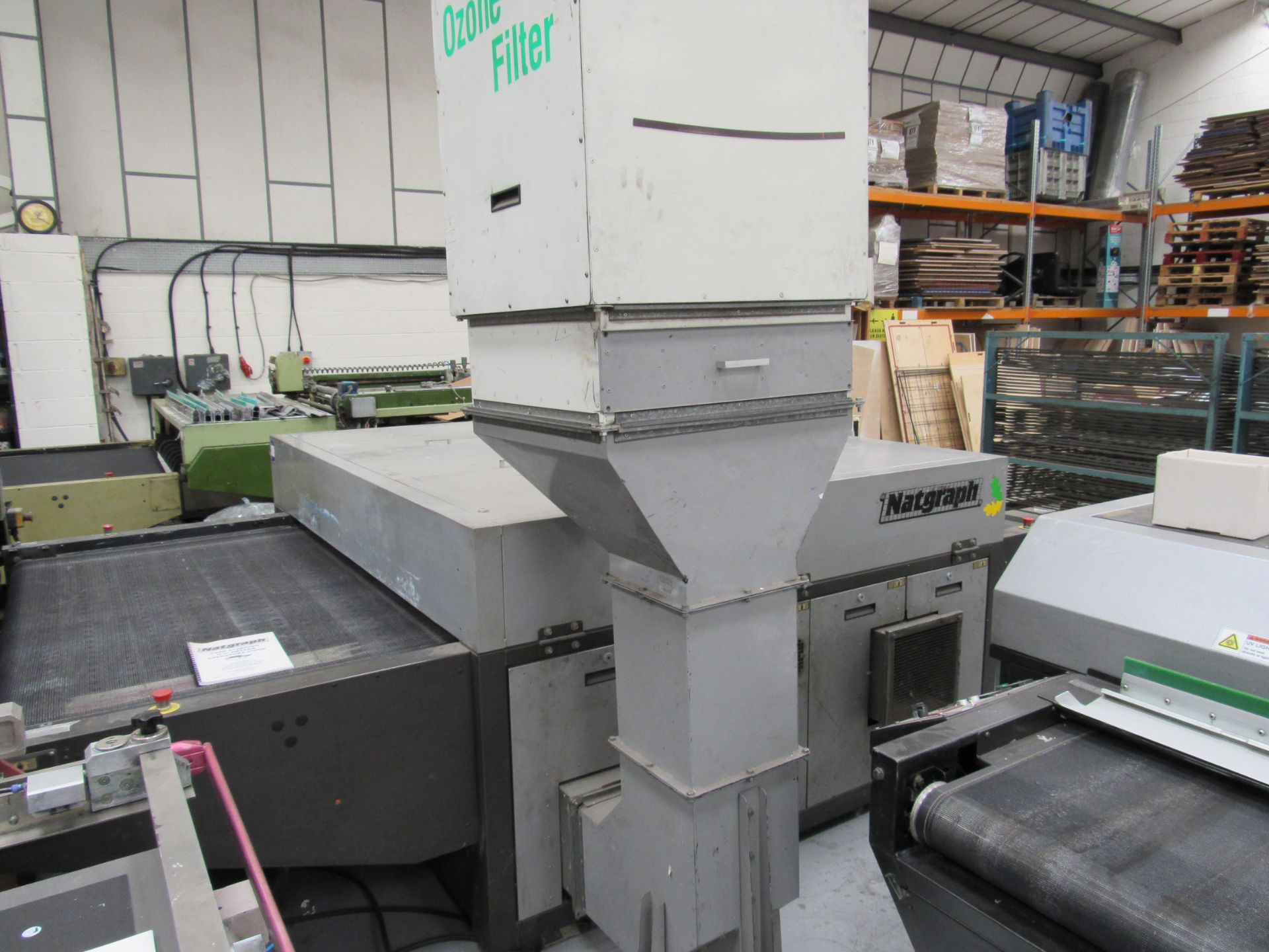 Serfast Screen Printer with Natgraph 170-02.01 UV Dryer, Serial Number 337-02-04, 2002 - Image 9 of 13