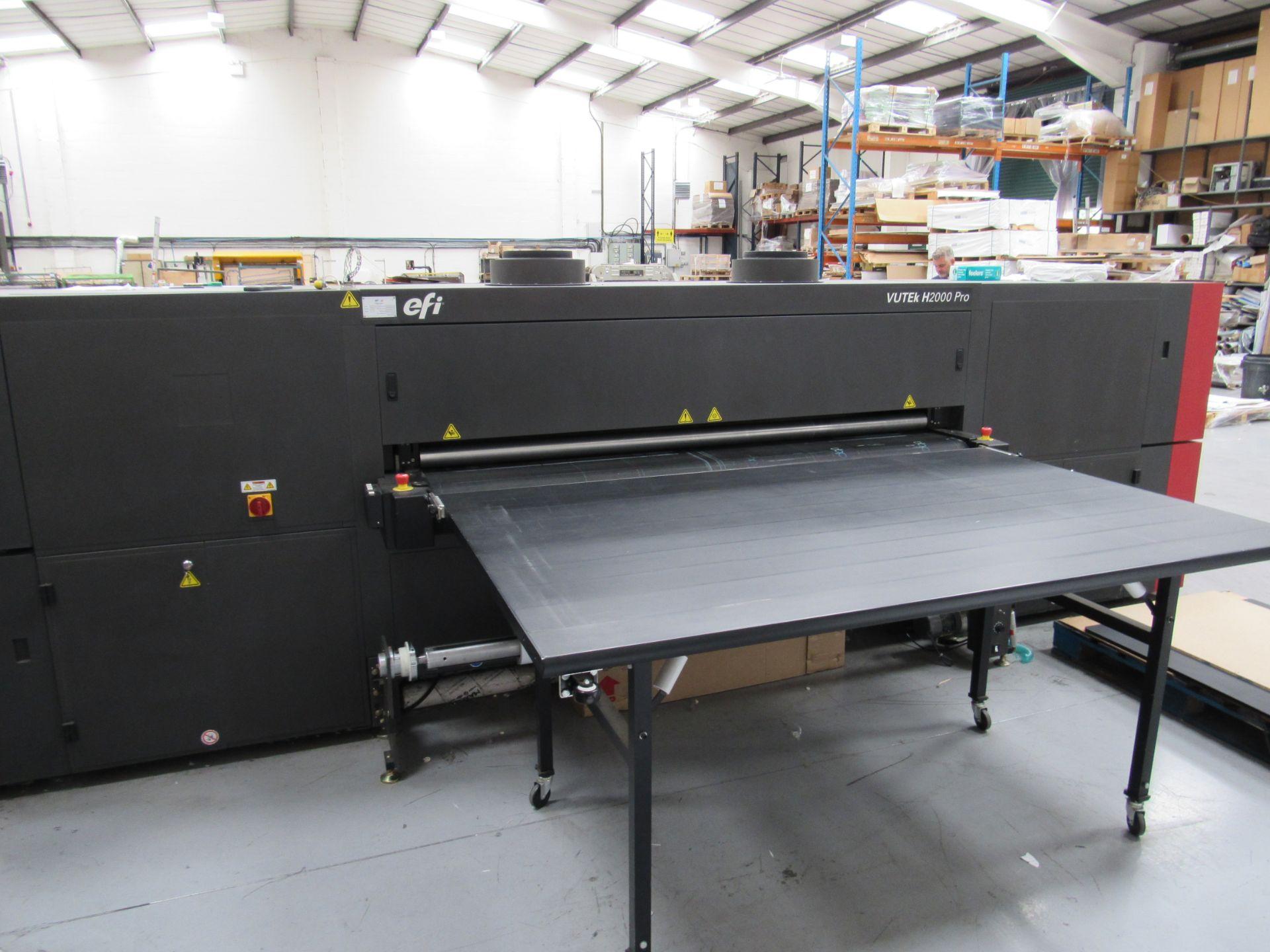 EFI VUTEk H2000 Pro - UltraDrop Technology UV 2m Hybrid Printer, Serial Number 262013, Dec 2014, - Image 3 of 16