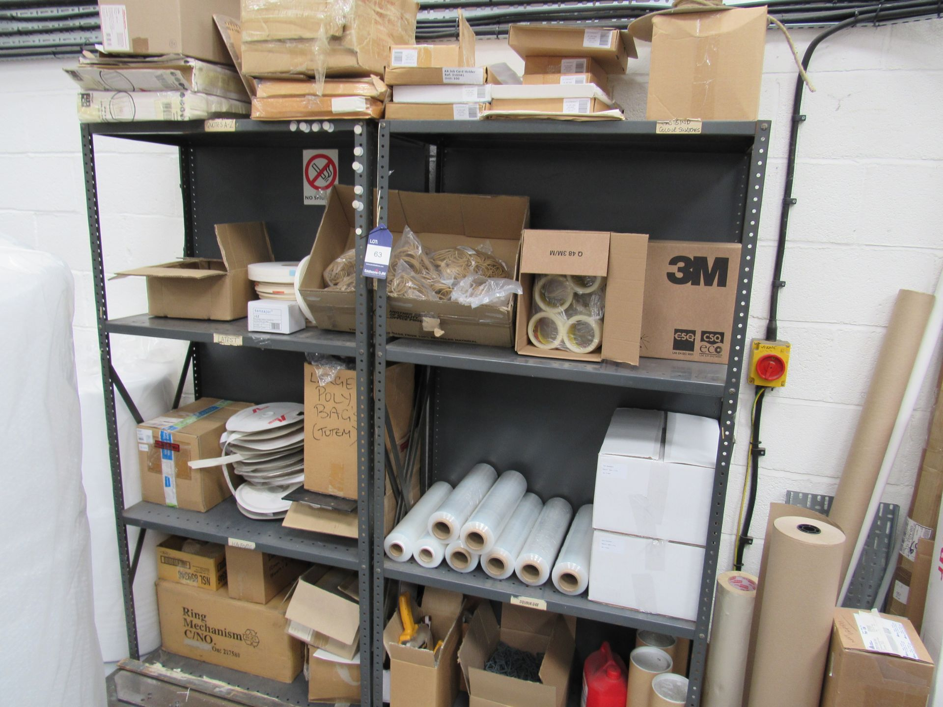 2 Bolted Steel Shelf Unit and Quantity Stocks - Image 2 of 4