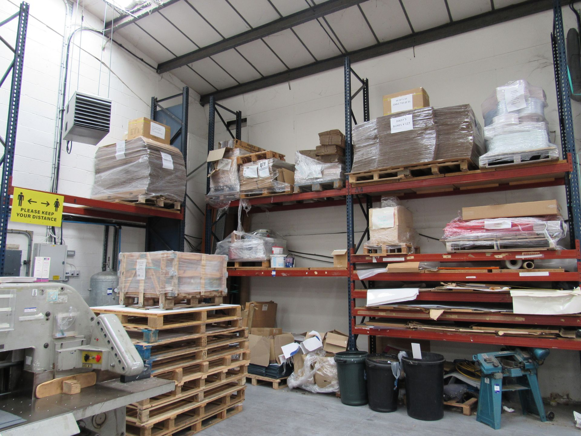 3 Bays Warehouse Racking, 5 End Frames, 20 Cross Beams