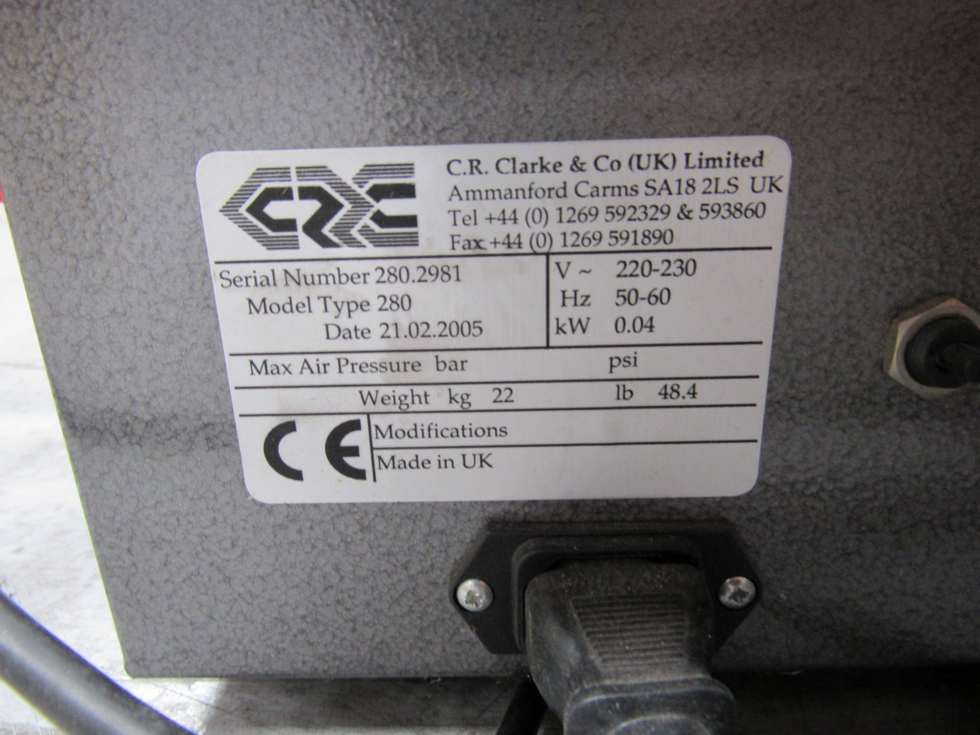 C R Clarke Hot Wire Sculptor 280 Serial Number 280-299, 2005 - Image 3 of 4