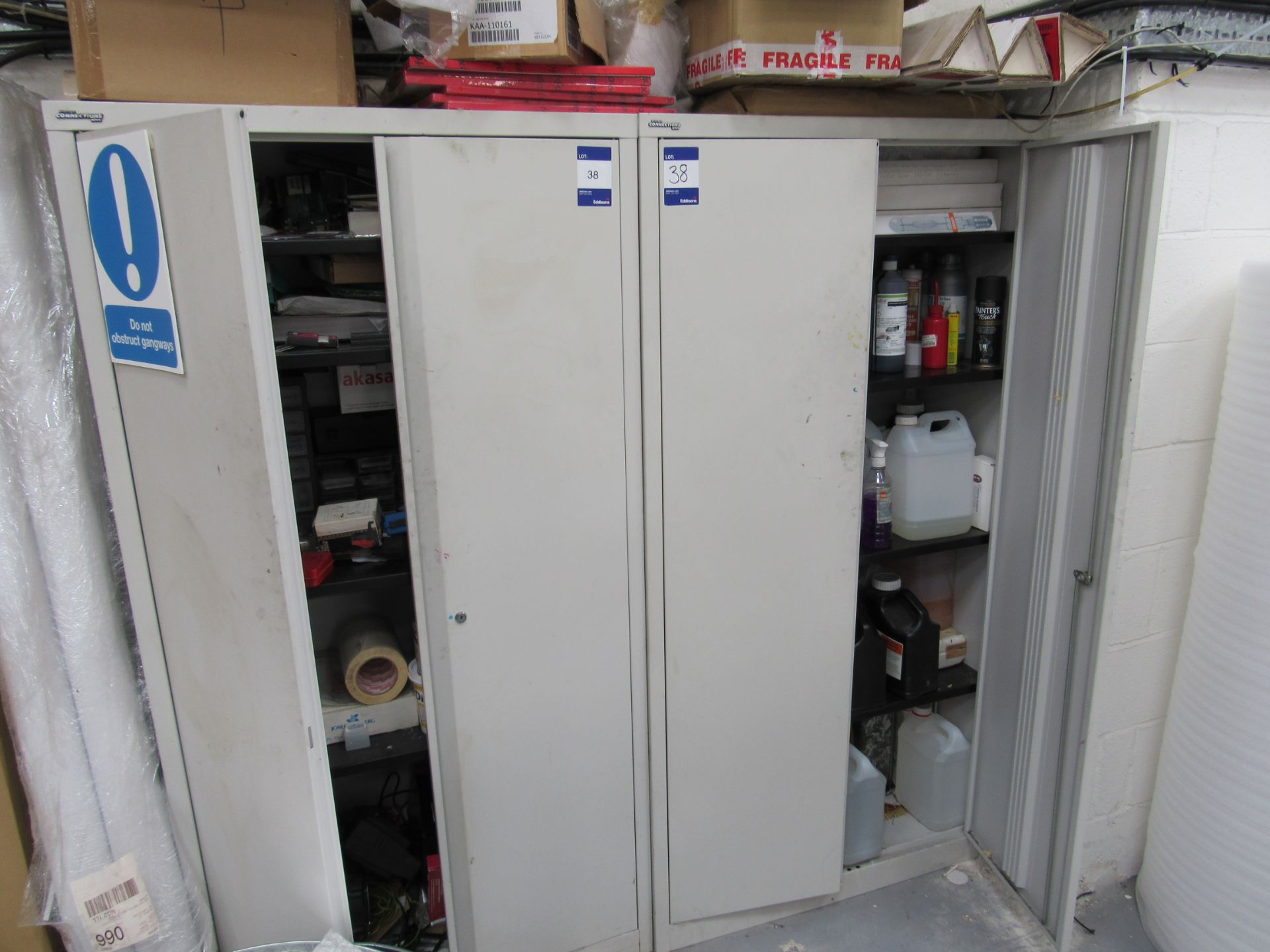 2 Steel Cabinets and Contents