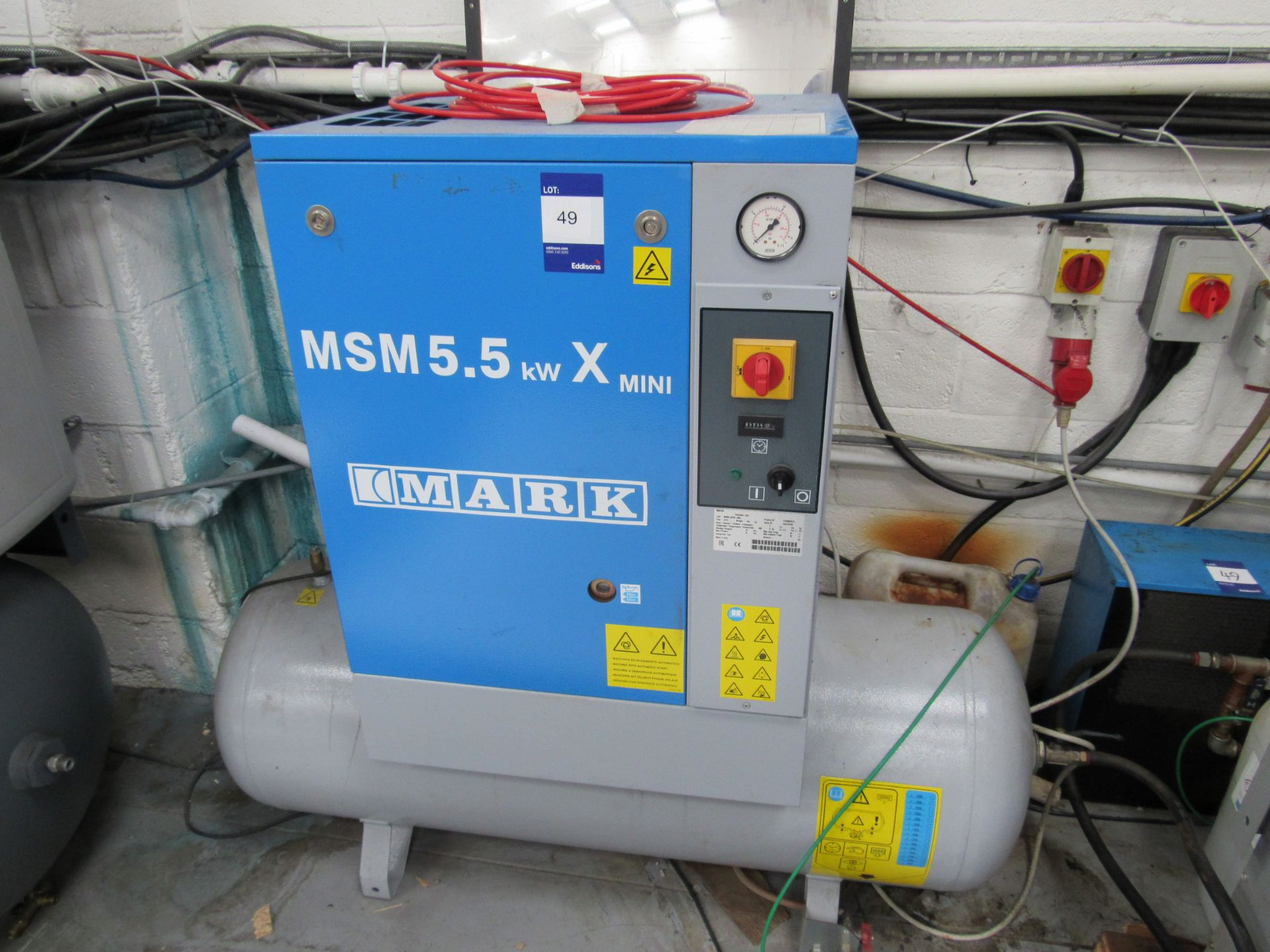 Mark MSM5, 5KWX, 200L Receiver Mounted Compressor with Air Drier Serial Number CA1870780 - Image 2 of 7