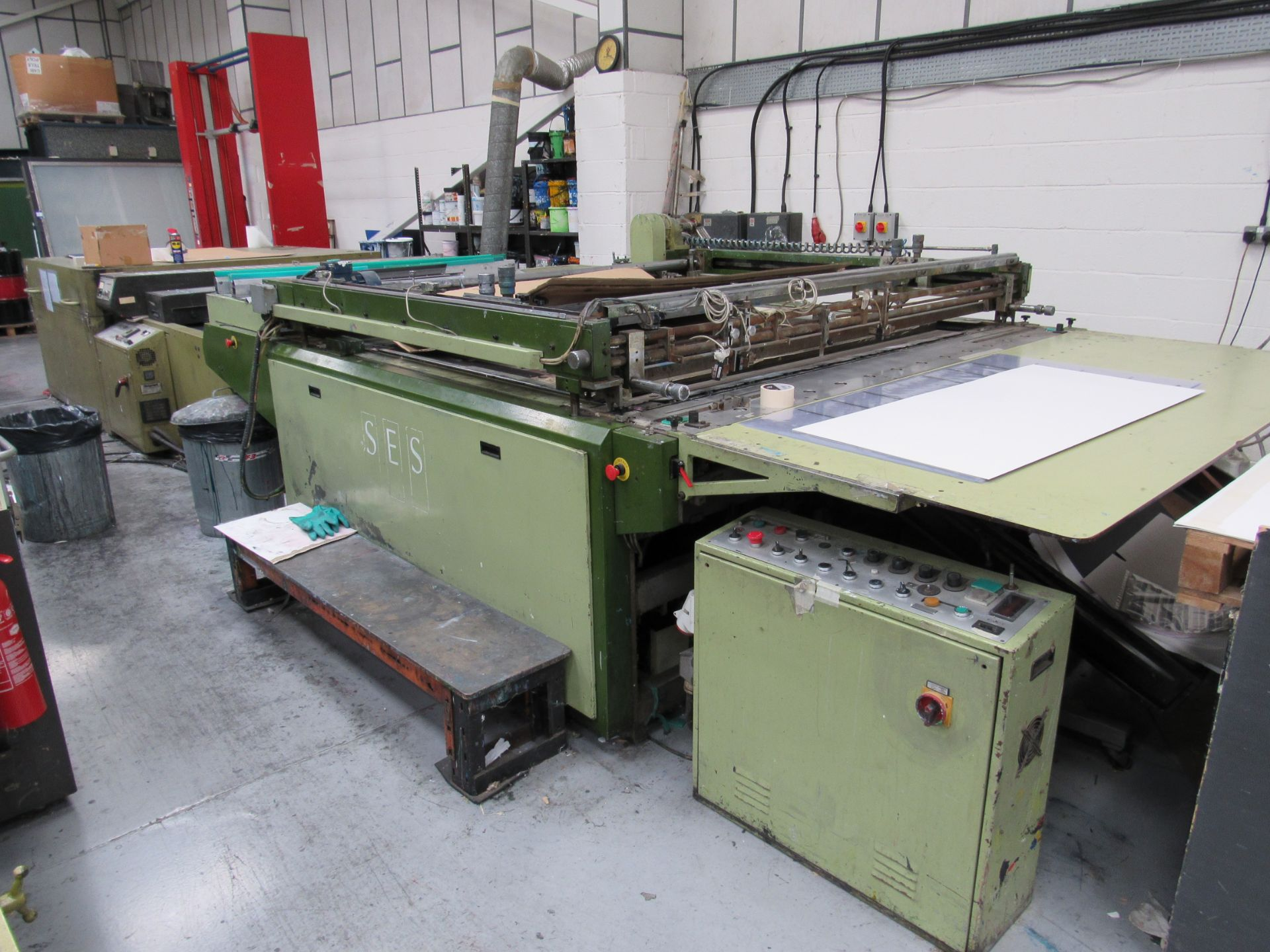 Sias Print Serifast 117.180 Screen Printer Serial Number 88745 with Natgraph 155-2000E UV Dryer Line - Image 6 of 10