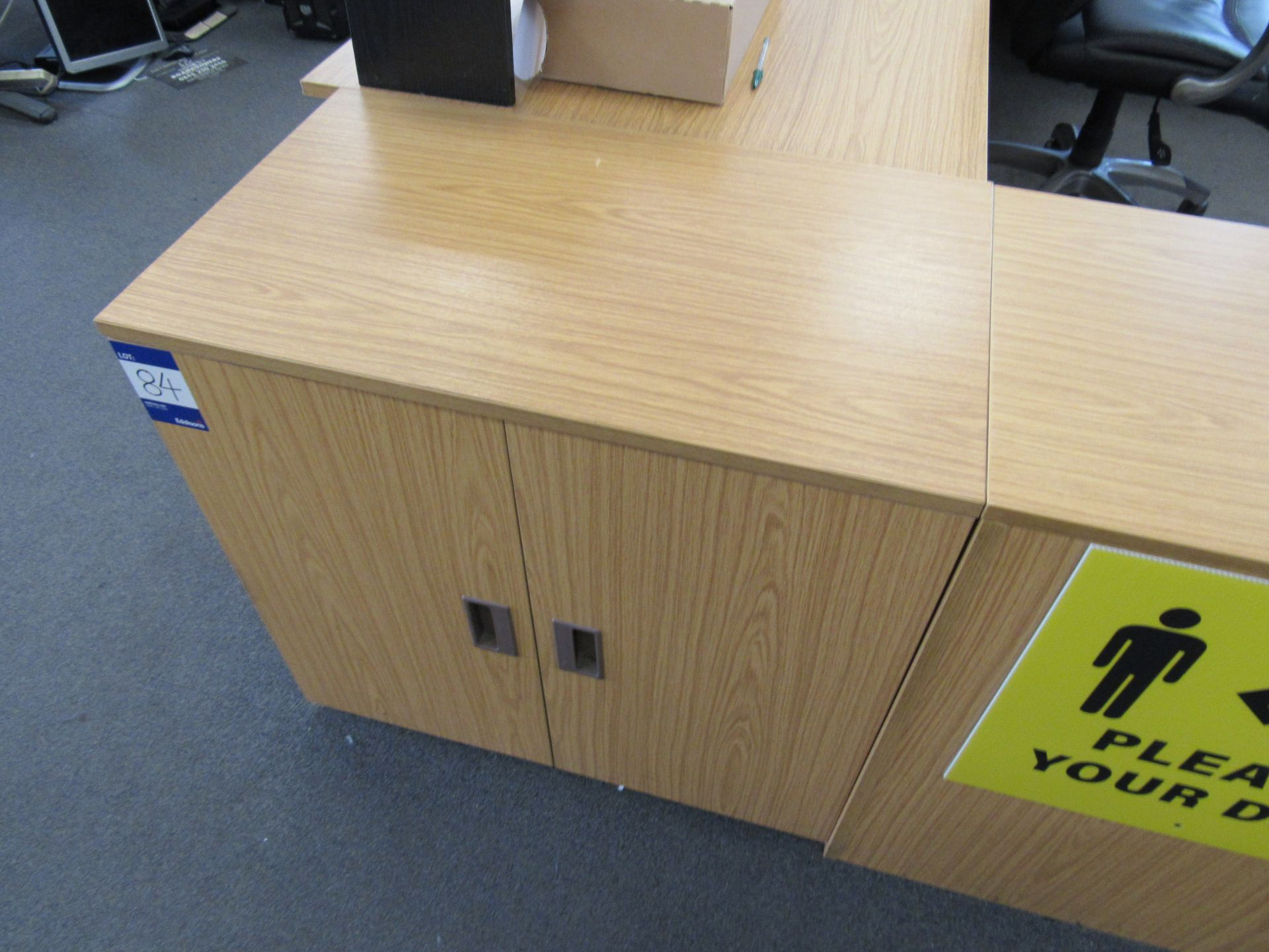 4 x Assorted low level double door cupboards (Approximately 750 x 710 x 450), to first floor office - Image 4 of 4